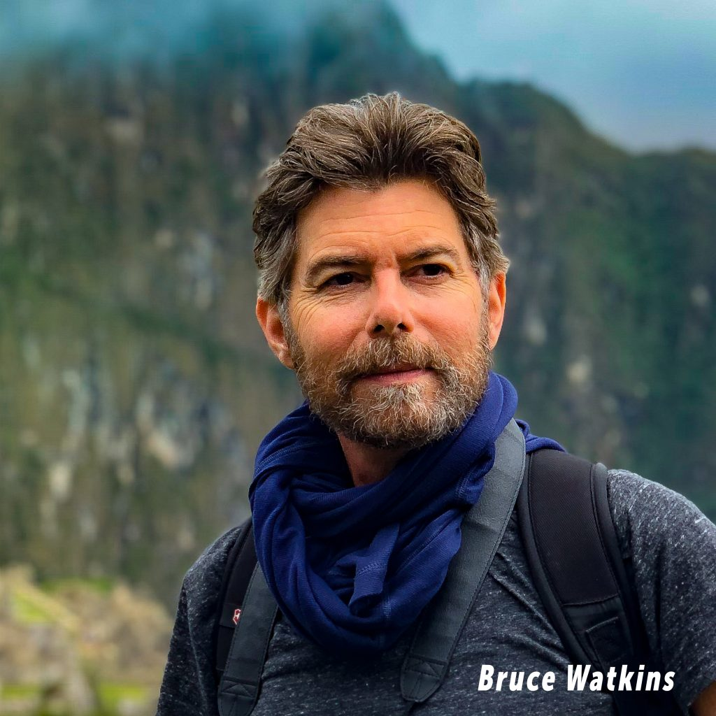 Picture of Bruce Watkins at Machu Picchu from OurCancerJourney.com